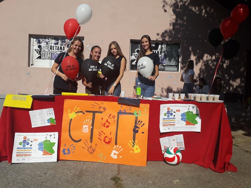 """Projekat """"Kul je da znaš! Vršnjačkom edukacijom protiv nasilja"""" u Palanačkoj gimnaziji u Smederevskoj Palanci:"""